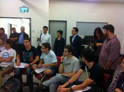 ביקור מפדרציית הנוער של סין 7.12.2014