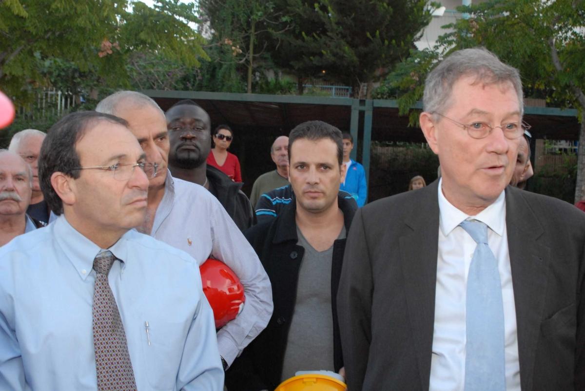 ביקור של רוברט סרי בראשון לציון 25.11.2012